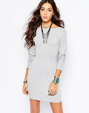 photo Longline Dress with Cross Back Detail by Rokoko, color Grey Marl - Image 2