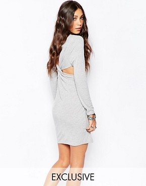 photo Longline Dress with Cross Back Detail by Rokoko, color Grey Marl - Image 1