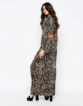 photo Wagon Leopard Maxi Dress with Cut Out Back by Somedays Lovin, color Leopard Print - Image 2
