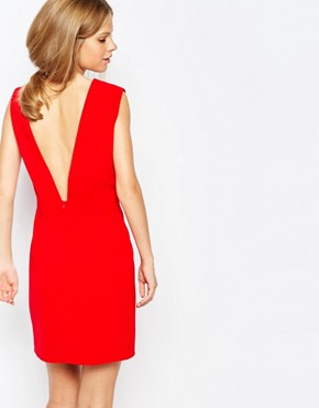 photo Low Front Pinafore Dress with Low Back by The Laden Showroom x Re:Dream, color Red - Image 2