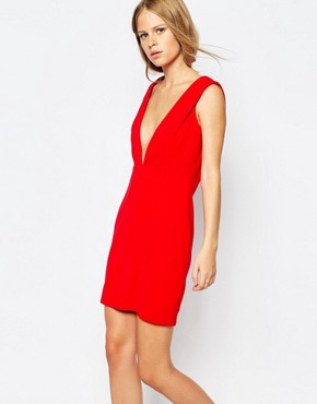 photo Low Front Pinafore Dress with Low Back by The Laden Showroom x Re:Dream, color Red - Image 1