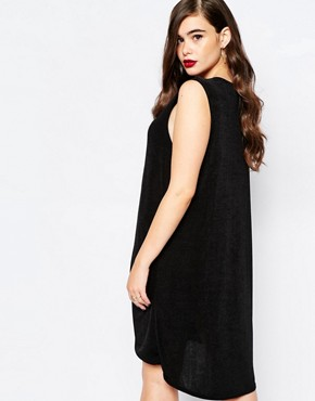 photo Slinky Swing Dress by Missguided Plus, color Black - Image 2