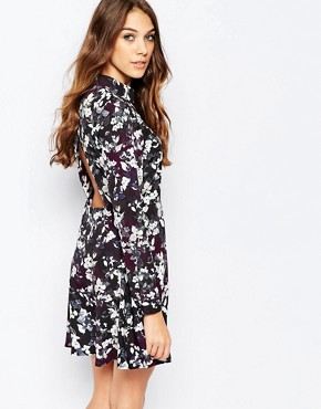 photo Tea Dress in Winter Floral by Neon Rose, color Multi - Image 2