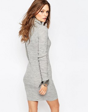 photo Knitted Dress with Roll Neck by Noisy May Petite, color Grey - Image 2