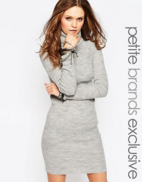 photo Knitted Dress with Roll Neck by Noisy May Petite, color Grey - Image 1