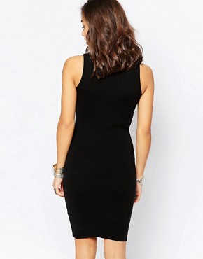 photo Knitted Roll Neck Bodycon Dress by Noisy May Petite, color Black - Image 2