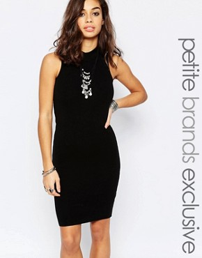 photo Knitted Roll Neck Bodycon Dress by Noisy May Petite, color Black - Image 1