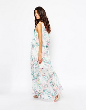 photo Aglamy Maxi Dress in Watercolour Floral by BOSS Orange, color Multi - Image 2