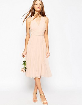 photo Hollywood Midi Dress by ASOS WEDDING, color Soft Pink - Image 1