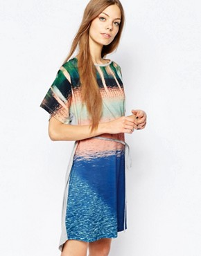 photo Swimming Pool Print Dress by Paul by Paul Smith, color Multi - Image 1