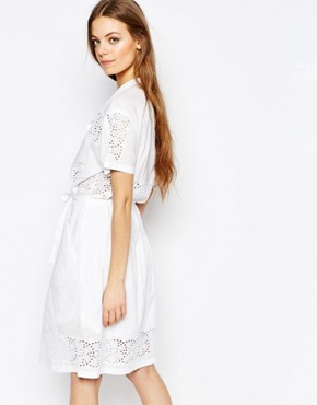 photo Broderie Dress by Paul by Paul Smith, color White - Image 2