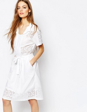 photo Broderie Dress by Paul by Paul Smith, color White - Image 1