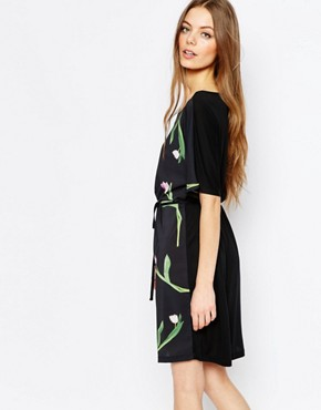 photo T-shirt Dress in Tulip Print by Paul by Paul Smith, color Multi - Image 2
