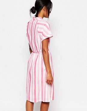 photo Plastic Bag Dress in Candy Stripe by Paul by Paul Smith, color Multi - Image 2