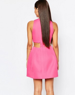 photo Daria Mini Dress with Pleat Front by AQ AQ, color Pretty Pink - Image 2