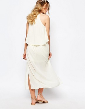 photo Frill Layered Maxi Dress by Darccy, color Cream - Image 2