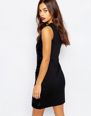 photo Sequin Bodycon Dress by Vero Moda Petite, color Black - Image 2