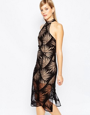 photo Heirloom Dress in Black Palm by Finders Keepers, color Black - Image 1