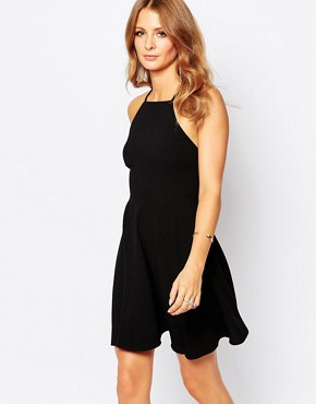 photo Strappy Mini Dress in Black by Millie Mackintosh, color Black Crepe - Image 2