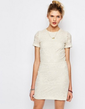 photo Jaja Embroidered Dress with Cut Out by Sessun, color Cream - Image 2