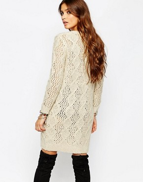 photo Cable Knitted Dress by Stitch & Pieces, color Cream - Image 2