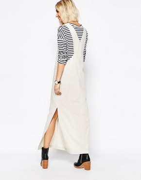 photo Dungaree Maxi Dress by Paisie, color Beige - Image 2
