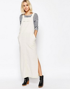 photo Dungaree Maxi Dress by Paisie, color Beige - Image 1