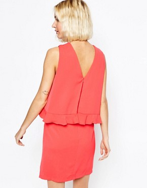 photo V Neck Dress with Ruffle Trim by Paisie, color Strawberry - Image 2