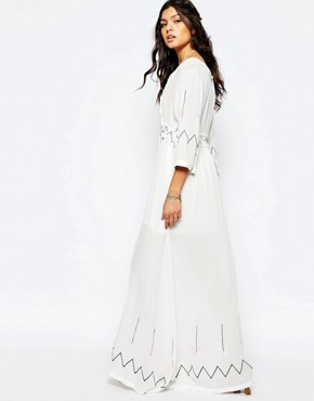 photo Miss Hart Longsleeve Maxi Dress in White by Stevie May, color White - Image 2