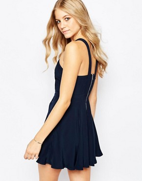 photo Washed Up Skater Dress by Finders Keepers, color Blue - Image 2