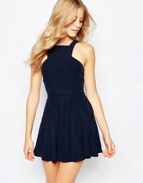 photo Washed Up Skater Dress by Finders Keepers, color Blue - Image 1
