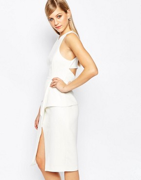 photo Lonely Hour Origami Dress by Finders Keepers, color White - Image 1