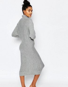 photo Roll Neck Jumper Dress by Stitch & Pieces, color Light Grey - Image 2