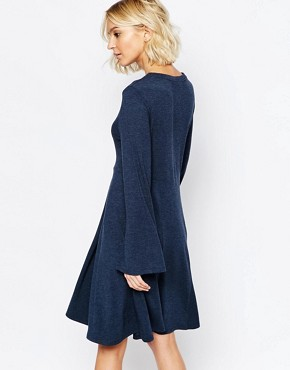 photo Hally Flippy Dress in Navy by Just Female, color Navy - Image 2