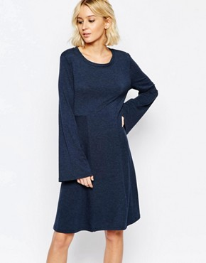 photo Hally Flippy Dress in Navy by Just Female, color Navy - Image 1