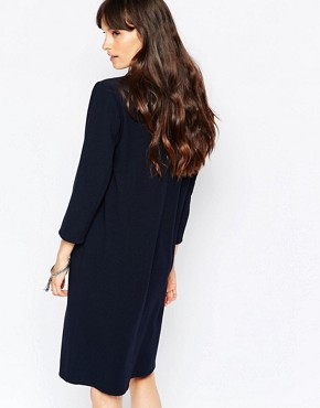 photo Ballad Shift Dress in Navy by Just Female, color Navy - Image 2