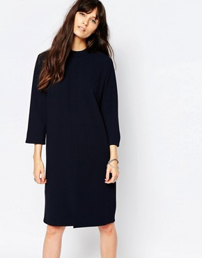 photo Ballad Shift Dress in Navy by Just Female, color Navy - Image 1