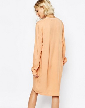 photo Cosa Longsleeve Dress in Peach by Just Female, color Orange - Image 2