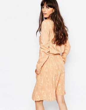photo Lumina Print Shirt Dress in Peach by Just Female, color Pink - Image 2