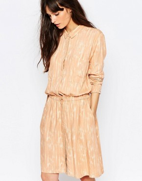 photo Lumina Print Shirt Dress in Peach by Just Female, color Pink - Image 1