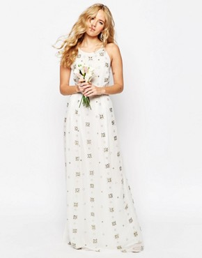 photo All Over Embellished Cami Maxi Dress by ASOS BRIDAL, color White - Image 1
