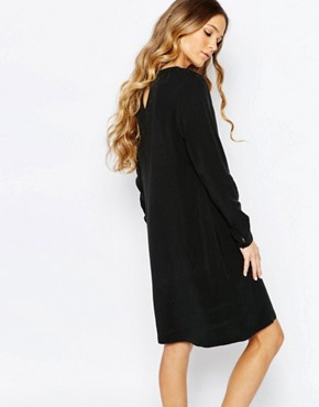 photo Cupro Dress with Lace Details in Black by Maison Scotch, color Black - Image 2