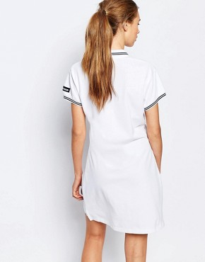 photo Polo T-Shirt Dress by Ellesse, color White - Image 2