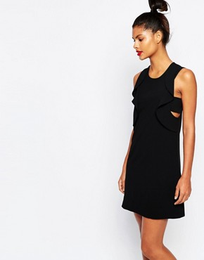 photo Ruffle Dress in Black by Sonia by Sonia Rykiel, color Black - Image 1