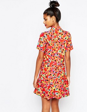 photo Red Printed Shirt Dress by Sonia by Sonia Rykiel, color Red - Image 2