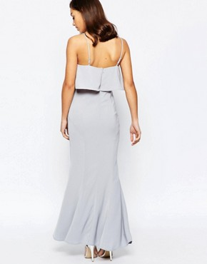 photo Overlay Maxi Dress by Jarlo Petite, color Grey - Image 2