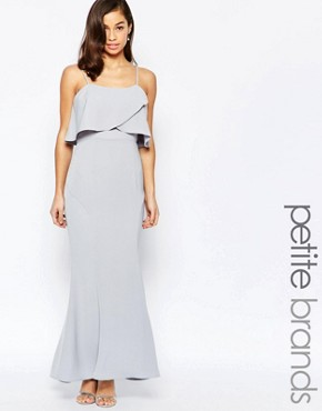 photo Overlay Maxi Dress by Jarlo Petite, color Grey - Image 1