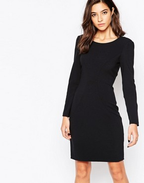 photo Bodycon Dress with Contouring by Sisley, color Black - Image 1