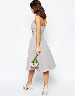 photo Embellished Waist Prom Dress by TFNC Petite WEDDING, color Grey - Image 2