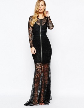 photo Lace Piper Maxi Dress in Black by Body Frock, color Black - Image 1